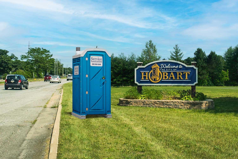 Porta Potty in Hobart, Indiana